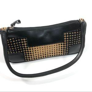 Rafe Black and Tan Dot Corduroy Small Handbag